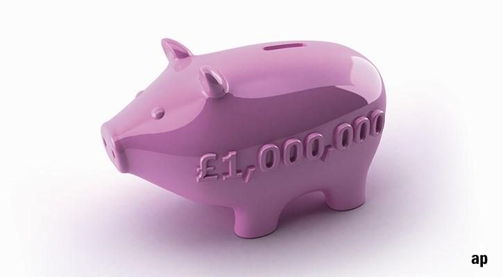 piggy bank one million pounds