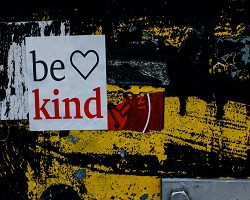 Be kind sign small