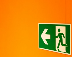 Exit sign small