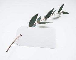 Leaf with tag small  arhhhhhh