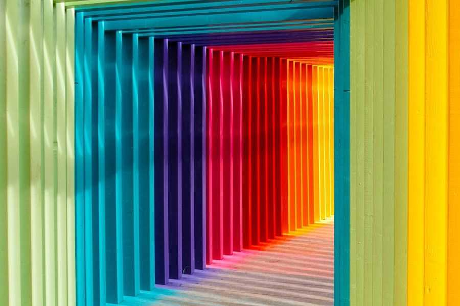 Multicoloured hallway