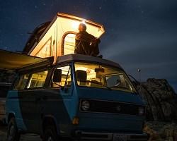 Nighttime camper van 1