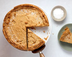 Pie with slice out of it
