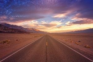 Road with horizon ahead