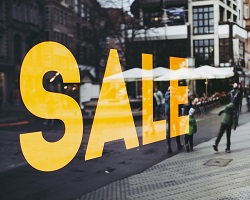 Sale sign street small