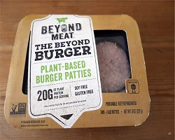 Picture of Beyond Meat burger patties in packaging