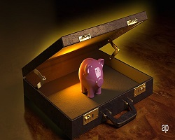 Cash suitcase article small