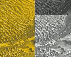 Satellite images of terrain