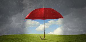 Rainy day umbrella theme page