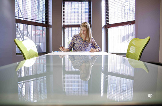Woman in a boardroom