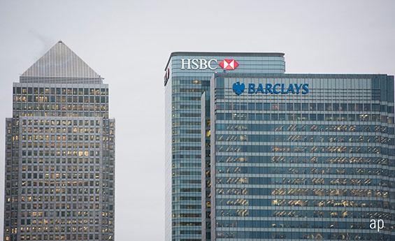 Canary Wharf, Barclays, HSBC, Lloyds, RBS, UK stocks, banks