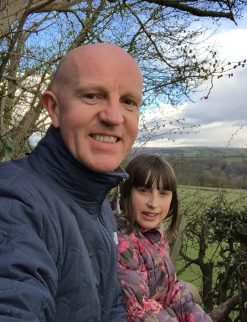 Private investor Duncan Burrows with his daughter Tizzy