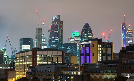 City of London commercial property skyline building construction investment