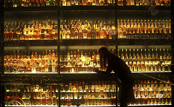 Diageo whisky selection