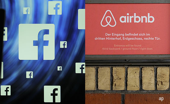 Facebook and Airbnb are two examples of private equity and venture capital success stories