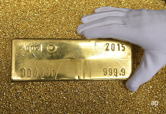Gold bar, gold price, short-selling, stock markets, safe haven