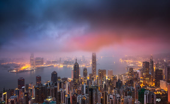 Hong Kong skyline, Stewart Investors Asia Pacific Leaders, Angus Tulloch, China, fund flows