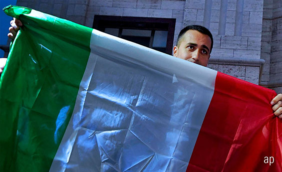 Italian flag, recession, Europe, European Union, eurozone, investment trusts