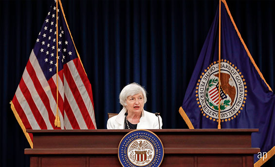 Outgoing Fed Chairman Janet Yellen