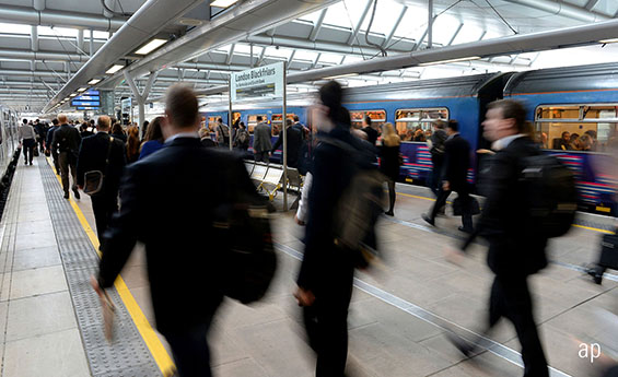 London commuters