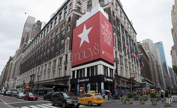 Macy's store, Macy's share price, Manhattan, US stocks, Amazon share price, retailers