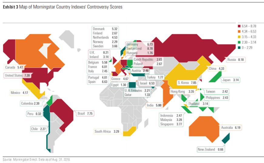 Mappa delle controversie a livello globale