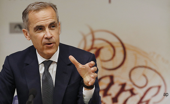 Bank of England governor Mark Carney is expected to raise interest rates tomorrow.