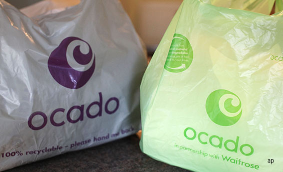 Ocado shopping bags