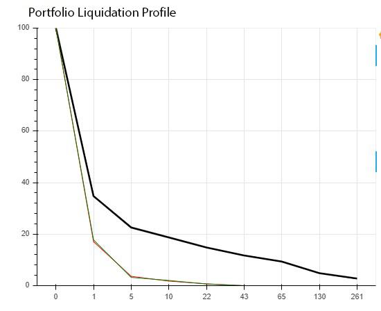 Portfolio liquidation profile