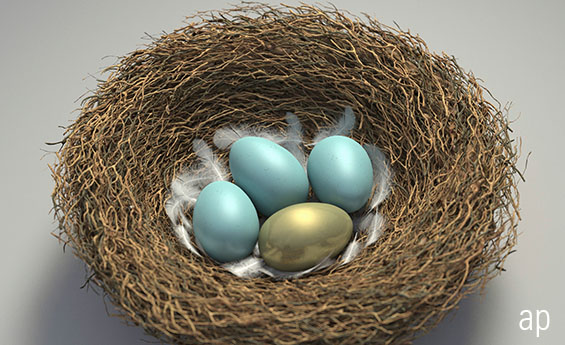 Retirement nest eggs