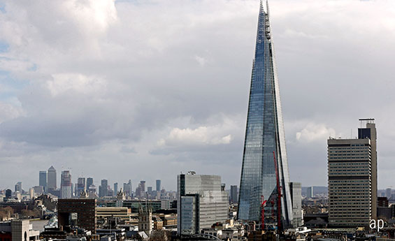 The Shard, City of London. Brexit Fears Hit Banks