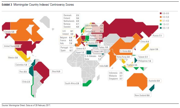 Morningstar Sustainability Atlas controversy score