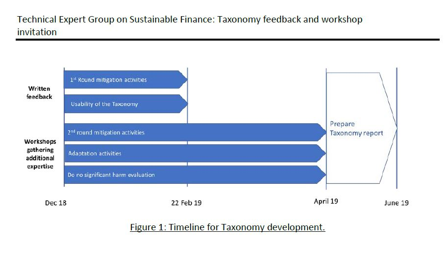 Agenda del Technical expert group on Sustainable finance