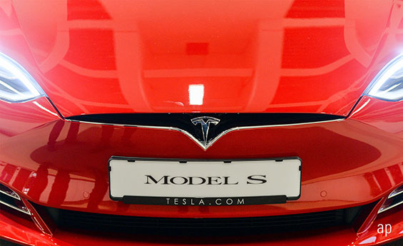 Tesla model S electric vehicle US equities climate change