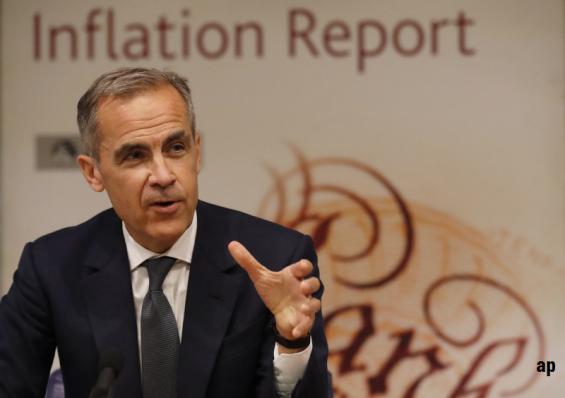 Mark Carney, Bank of England, interest rates, GDP, UK economy