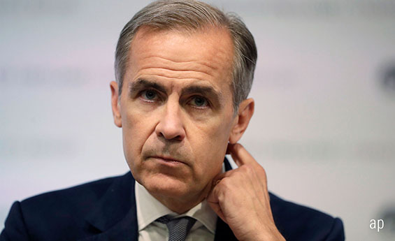 Bank of England City of London base rate interest rates Mark Carney inflation