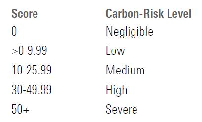 carbon risk level