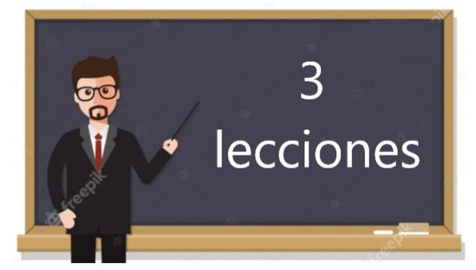 3 lecciones