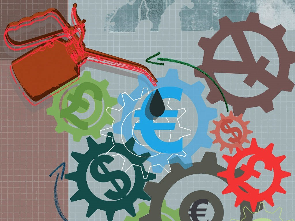 currencies and cogs graphic