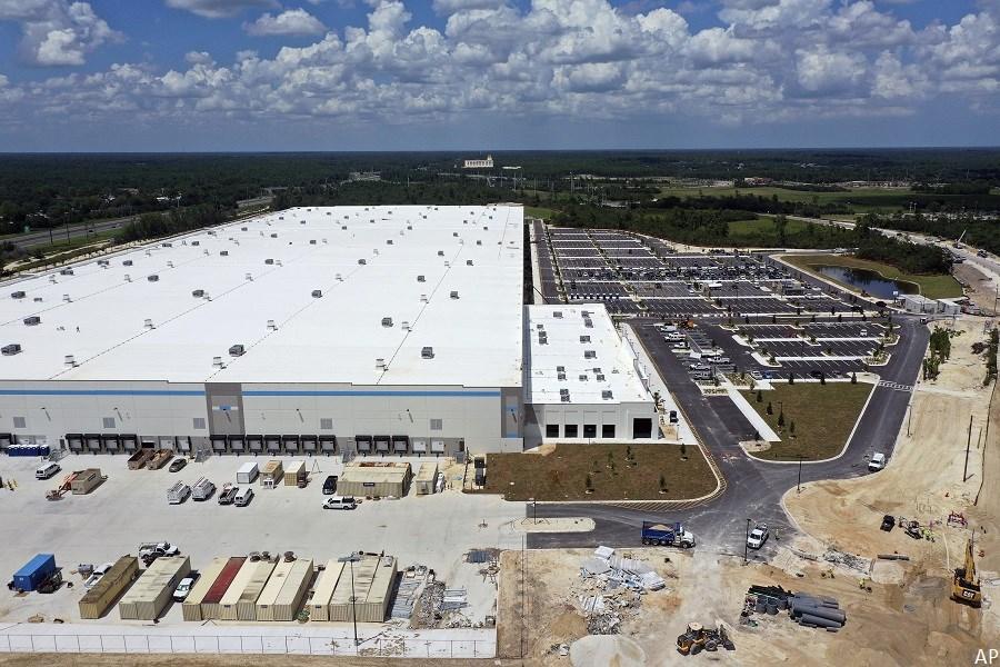 Amazon giant distribution centre