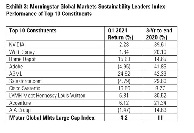 sustainability leaders index constituents