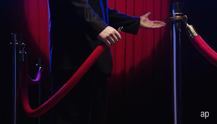 Nightclub bouncer and VIP rope