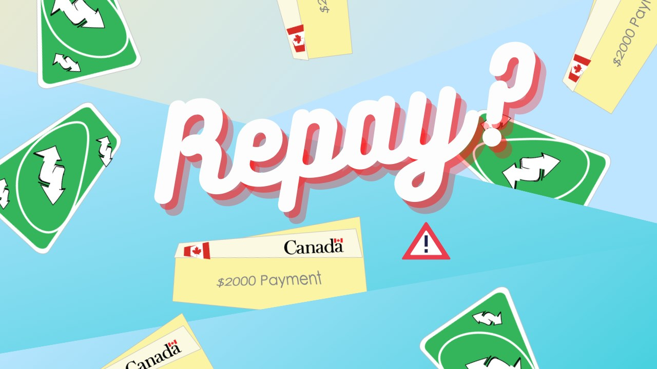 "Illustration of UNO reverse UNO cards with the words ""Repay?"" in the middle"