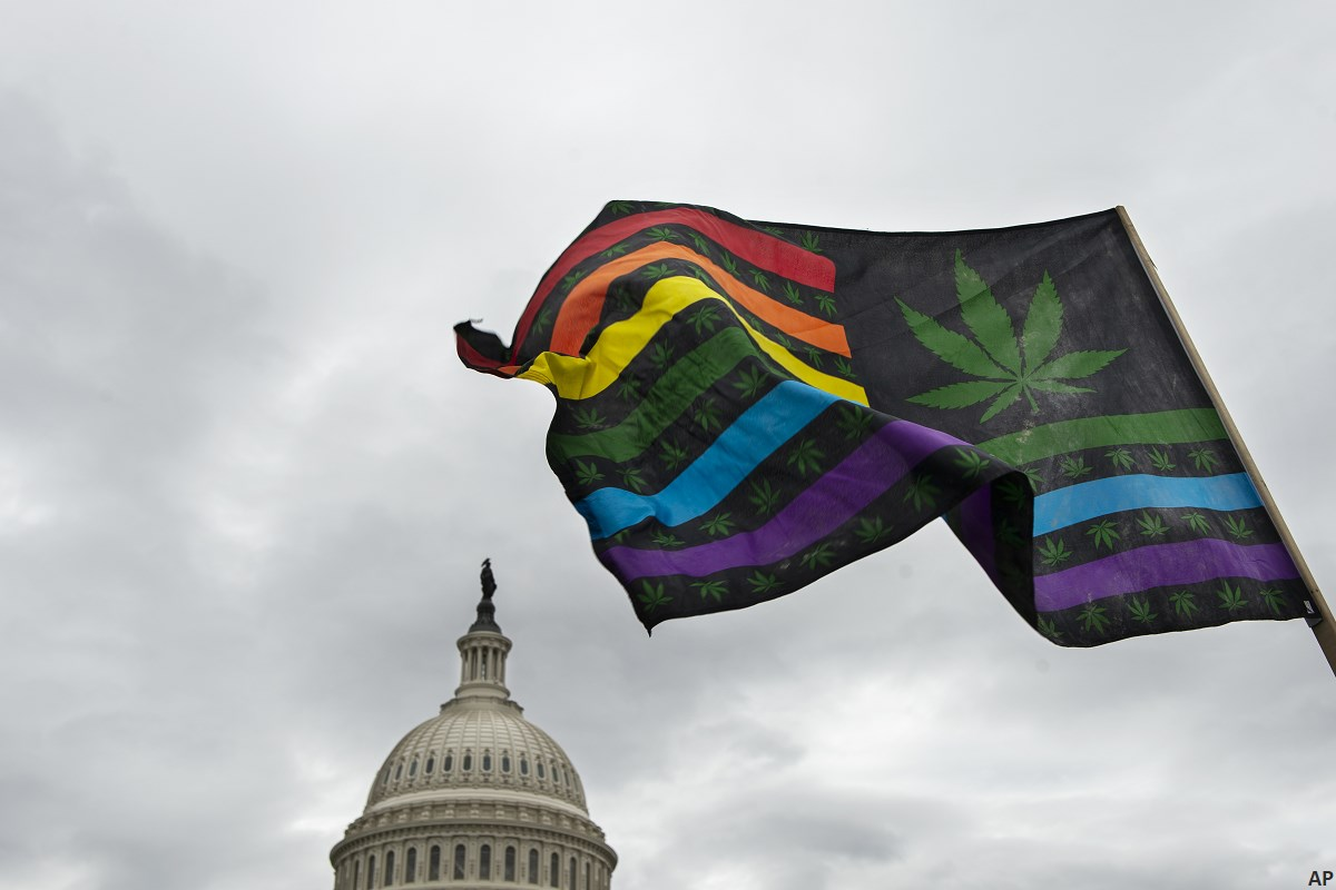 Cannabis flag at U.S. Capitol
