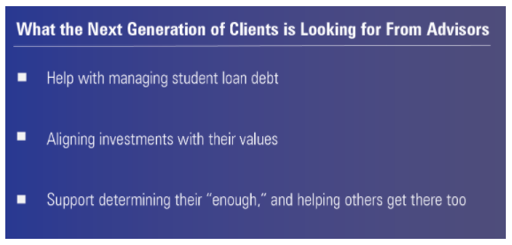What the next generation of clients are looking for