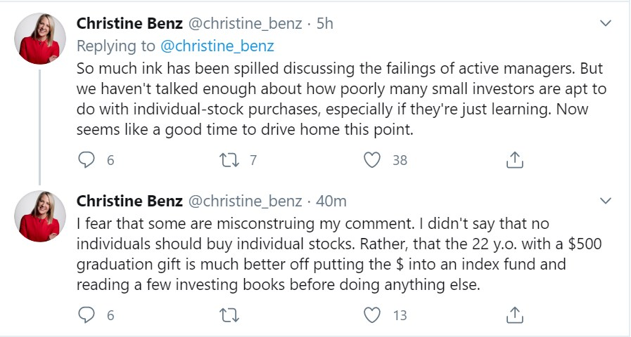 Christine Benz Tweet 2 06 18