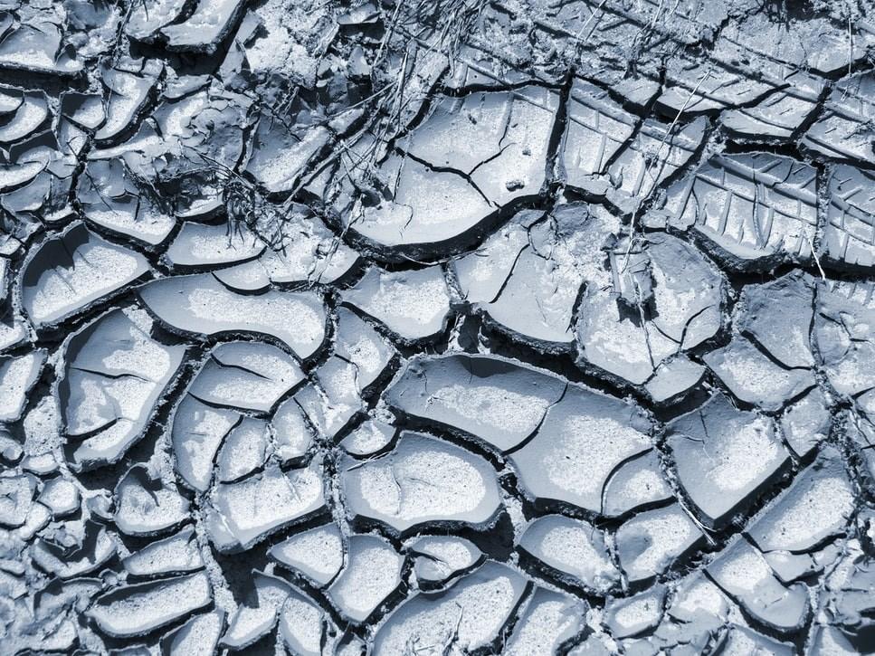 Dry ground with cracks
