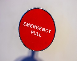 Emergency button red small