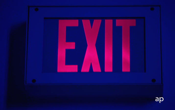 Exit sign wide thumbnail