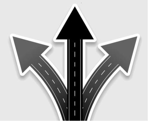 Flechas en distintas direcciones